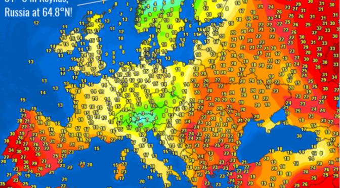 Extrém hőség volt a hétvégén az északi sarkkör közelében