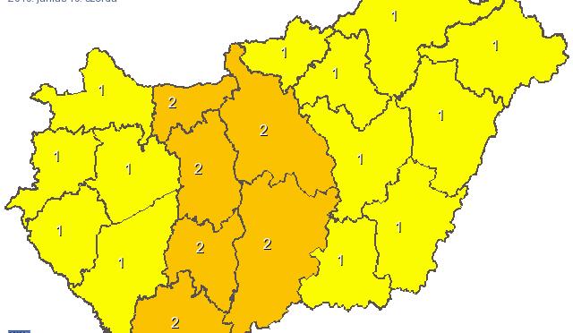 Heves zivatar is kialakulhat az Alföldön, illetve a középső országrészben!