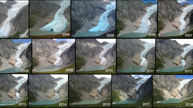 Hőhullám olvasztja a norvégiai gleccsereket