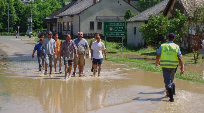 A Ipoly áradása Litkén (2006.07.06)