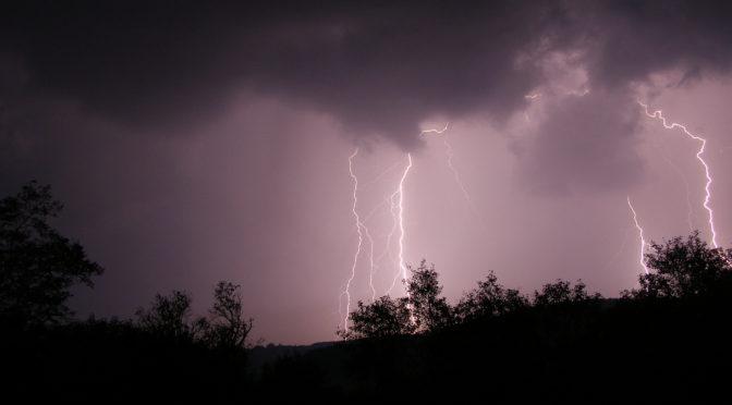 Egy éjszakai, őszi zivatar villámai (2007.09.17.)