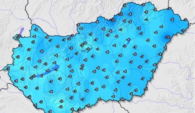 Megdőlt az országos minimumhőmérséklet-rekord (2020.04.01.)