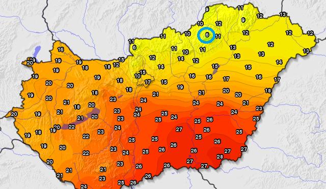 Megdőlt a legalacsonyabb napi maximumhőmérséklet (2020.05.13)