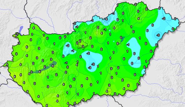 Hidegrekordot hozott Szervác (2020.05.13.)