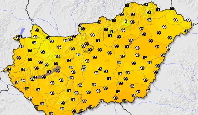 Megdőlt a legalacsonyabb maximumhőmérséklet a fővárosban (2020.05.31.)