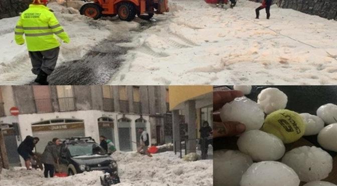 Jégvihar zúdult Észak-Olaszországra