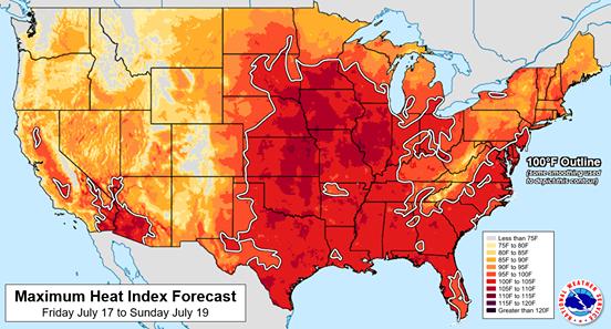 Szokatlanul erős hőhullám tombol Amerikában
