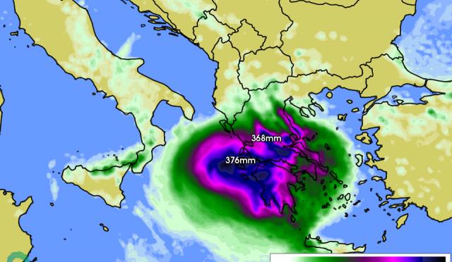 """Ianos az elmúlt évek legerősebb földközi-tengeri """"hurrikánja"""" (medikánja)"""