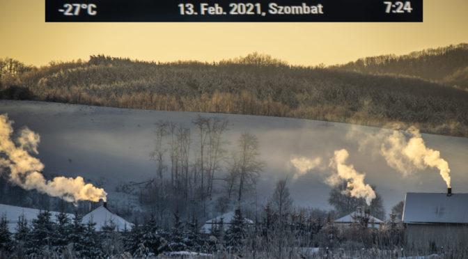 Zimankó körút a -27 fokos hidegben Zabar térségében